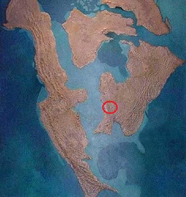 The Manson Crater impacted the North American continent 74 million years ago in the present day state of Iowa.