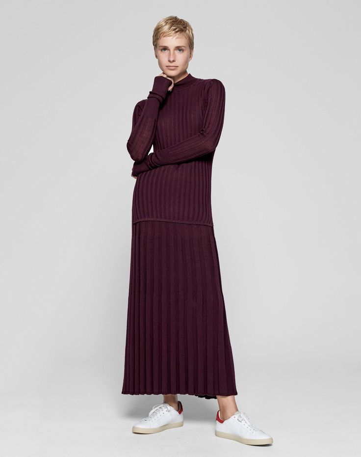 Ladies Knit Skirt | Mix Rib Full Skirt from ME+EM