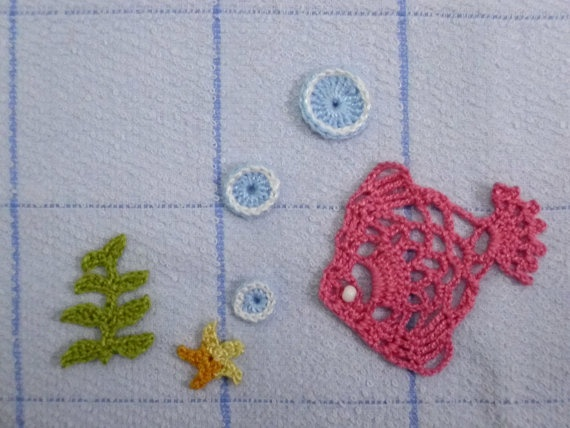 Crochet Fish Appliqué