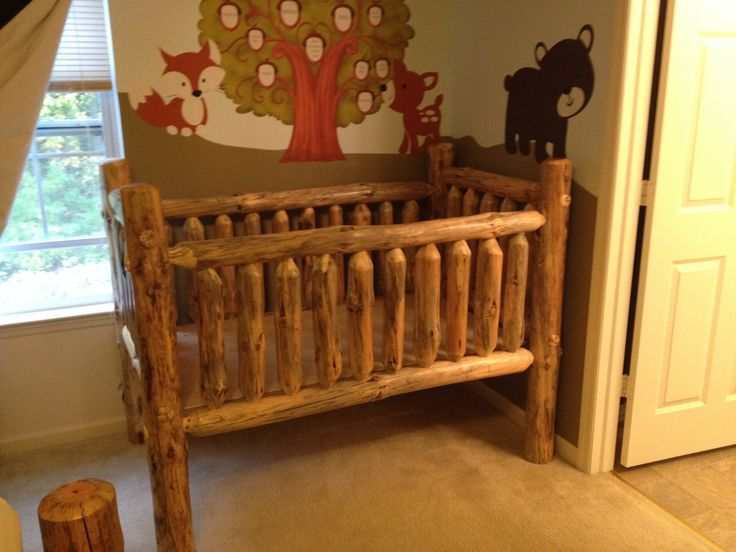 Rustic Pine Log Crib