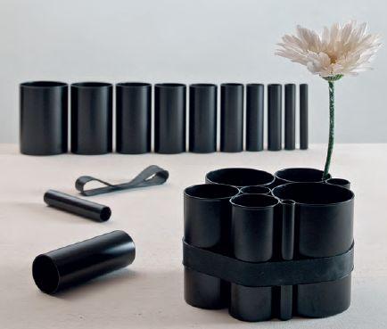 Contenitore cilindrico in porcellana nera | Arredamento ed oggettistica per una casa unica! / Cartograf dal 1949
