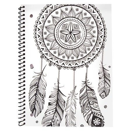 Bethany Mota Color Your Own Dream Catcher Notebook : Target