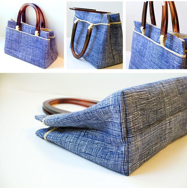 nice purse - very good tutorial - I like a shoulder bag so I'll make longer fabric straps