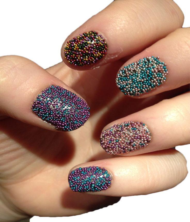 Imported 12 Jar Mixed Colors Caviar Nail Art Micro Beads