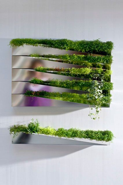"""READER TIP: """"Grass Mirror"""" Planter Wall Adds Green to Any Room 