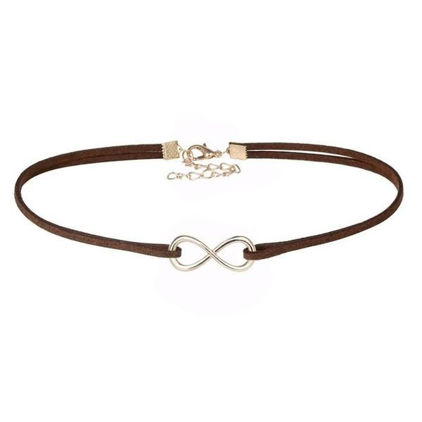 Heart and Infinity Pendant with Velvet Choker Necklace (Multiple Colors)