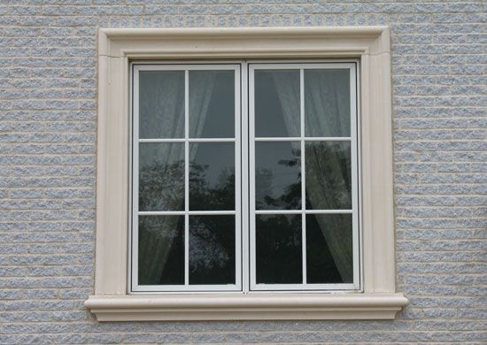Window in stone wall 0270 texturelib stone window frame for Window frame designs house design