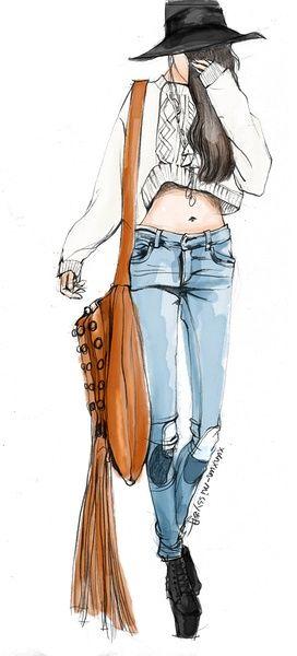 【控首饰】xunxun-missy手绘时装插画…_来自兎兎兎two妹的图片分享-堆糖网 Fashion illustration