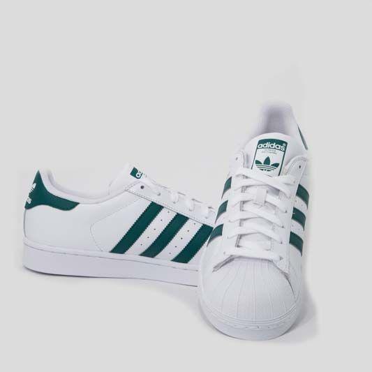 adidas superstar bianco verde