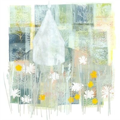 """""""a combination of printmaking, drawing and paper collage and inspired by Kent and E. Sussex"""" - Louise Pettifer"""
