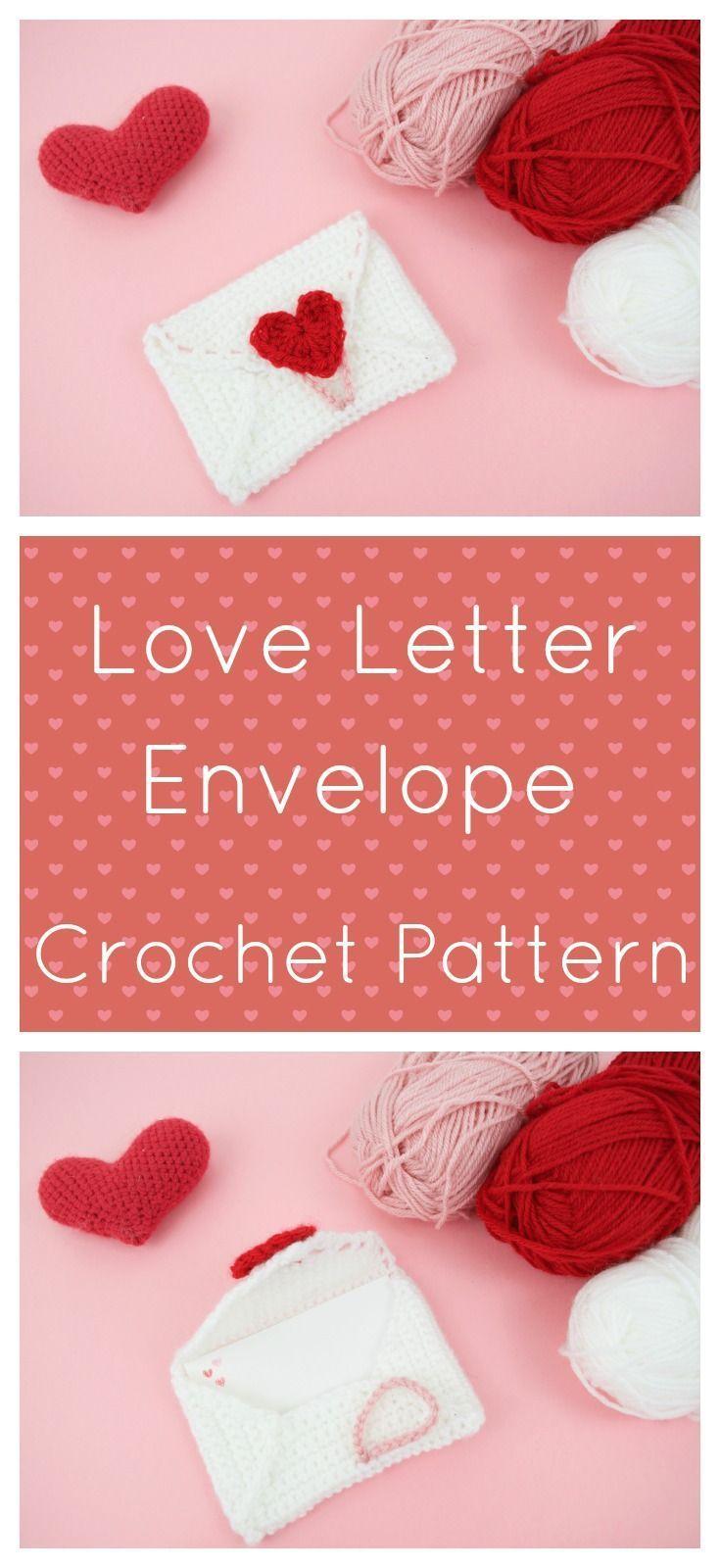 Love Letter Envelope Crochet Valentines Day Pinterest Crochet