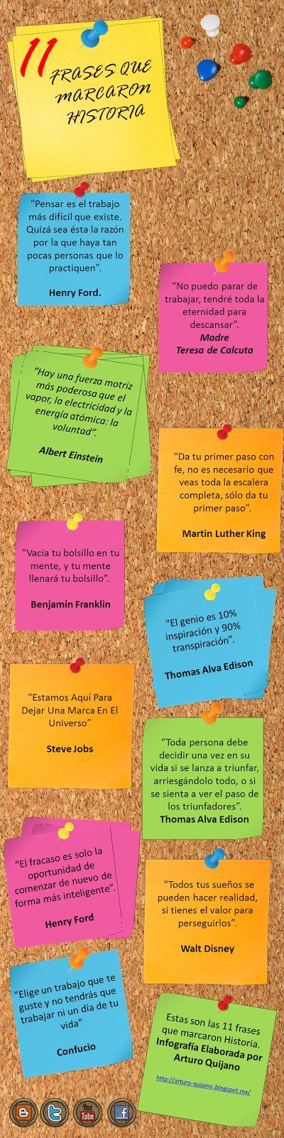 11 Frases para emprendedores que Marcaron la Historia (Infografía)