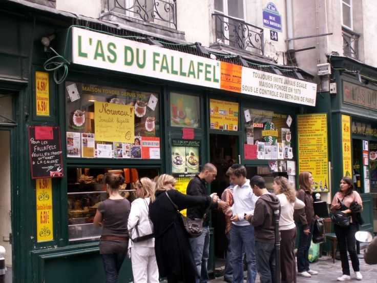 L'as du Falafel is the best falafel place in PAris. There's always a queue a mile long, but that is just testament to how tasty it is. Worth the wait!