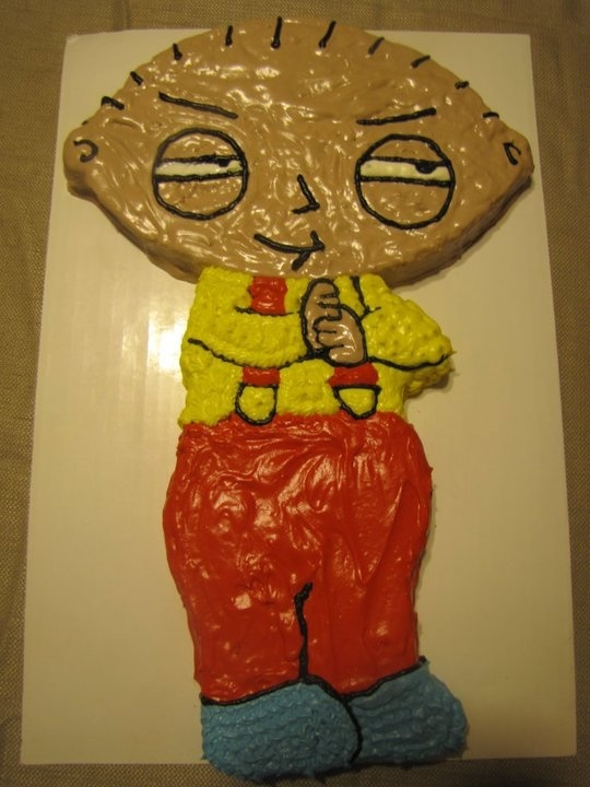 Stewie / Family Guy Cake By: Bryt's Bakes