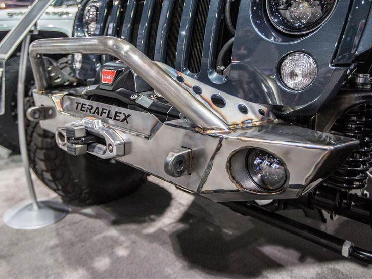 Blue Teraflex Jeep Wrangler JK Front Bumper SEMA 2015