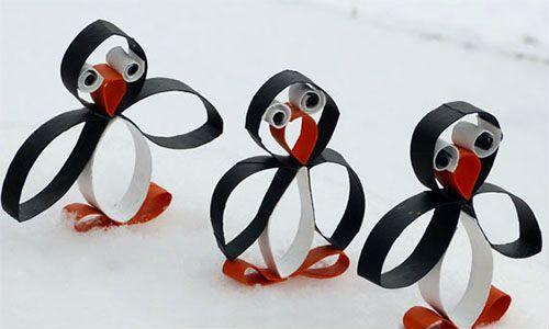 DIY: Funny Paper Penguins
