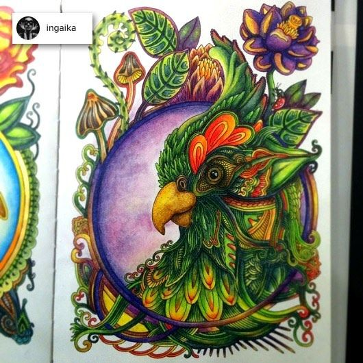 """Colored by @ingaika Drawn by me Coloring book """"Veter unosit tsvety"""" (…"""