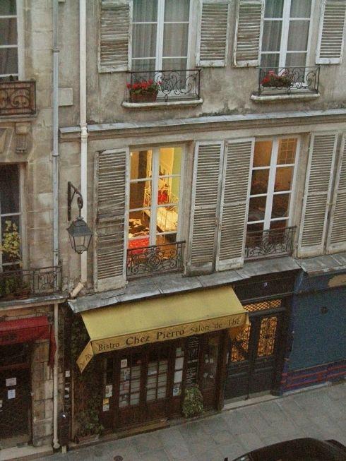 Paris apartments and bistro
