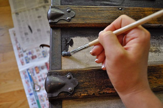1000 images about project x on pinterest - How to paint an old trunk ...