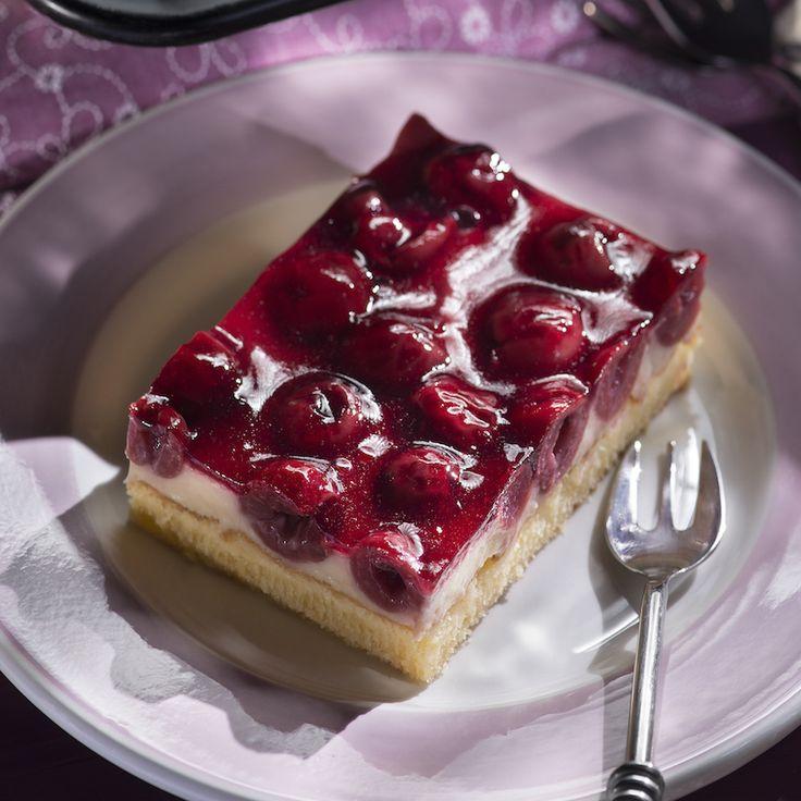 Kirsch-Schmand- Kuchen vom Blech