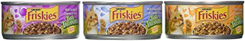 Friskies Tasty Treasures Variety Pack Canned Cat Food 12 cans55 oz per can Total Net Wt 412lb -- For more information, visit image link.