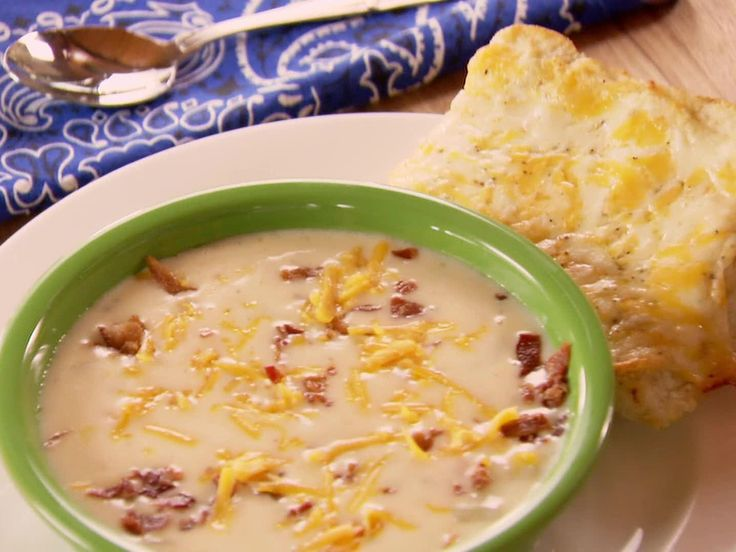 Made a meatless version of this with vegetable stock and fake bacon bits.   Perfect Potato Soup Recipe : Ree Drummond : Food Network - FoodNetwork.com