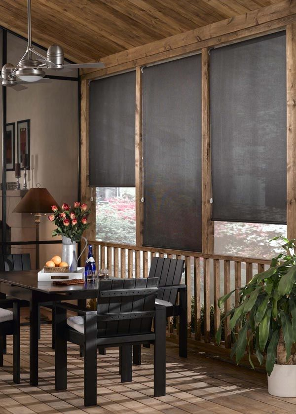 Outdoor Bamboo Shades For Screened Porch Patio Blinds Outdoor