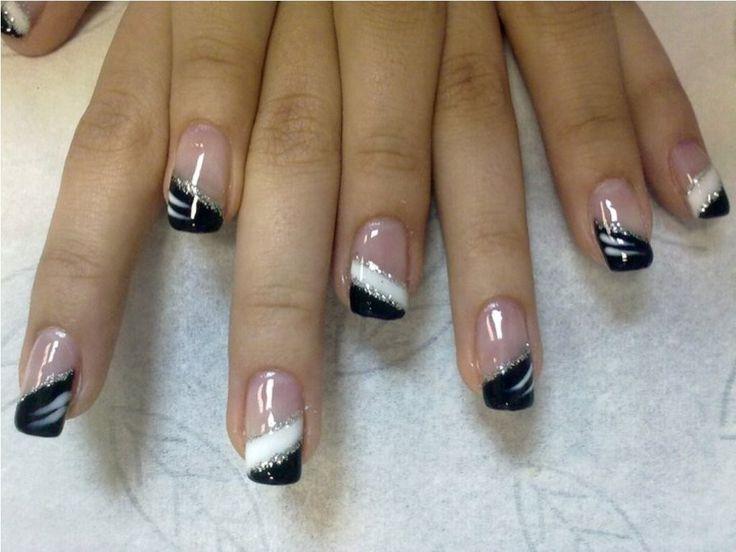 Black Gel Nails Designs for Ladies