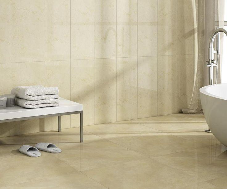 Te proponemos esta combinación para revestir tu baño en tonos suaves y cálidos. Atrio Crema & Loreta Beige