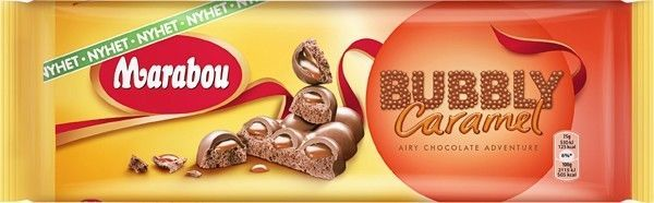 Marabou Bubbly Caramel Chocolate Bar 250 g (8.80 oz)  Made in Sweden