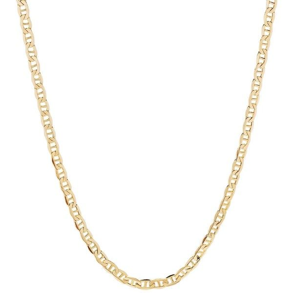 Fremada 14k Yellow Gold 3.15mm Mariner Chain ($387) ❤ liked on Polyvore featuring men's fashion, men's jewelry, men's necklaces, yellow, mens gold necklace, mens 14k gold chain necklace, 14k gold mens necklace, mens yellow gold cross necklace and mens chain necklace