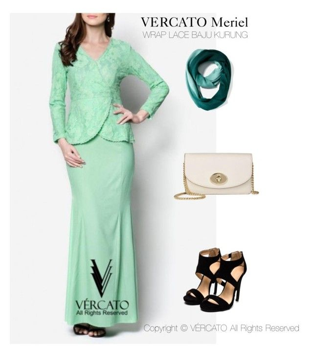 """""""VERCATO Meriel Baju Kurung Moden""""in mint green and also available in navy blue. SHOP NOW:  http://www.vercato.com/wrap-baju-kurung-moden-lace-vercato-meriel-mint-green"""