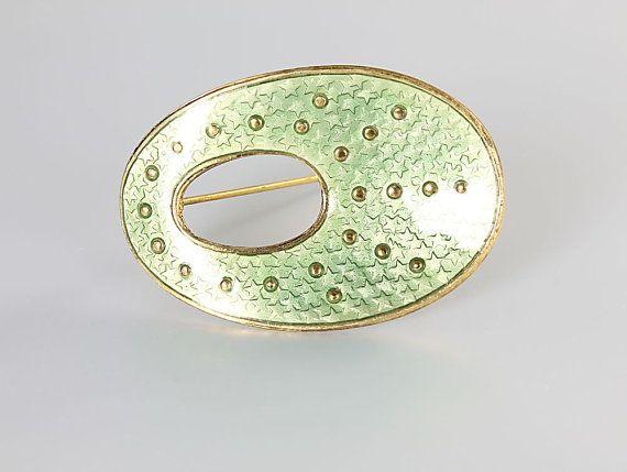 Balle Norway Sterling silver Enamel Modernist Brooch by RMSjewels