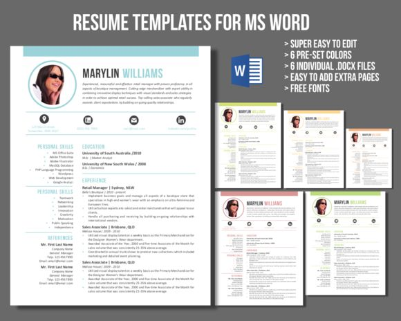 creative word resume market templates free download 2007 template mac 2008