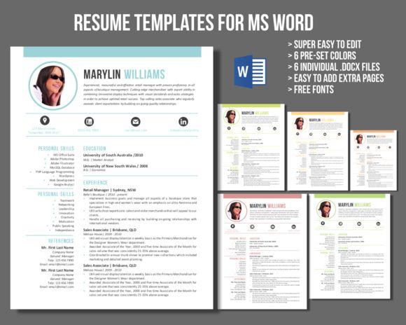 creative word resume market templates free download 2007 template mac 2008