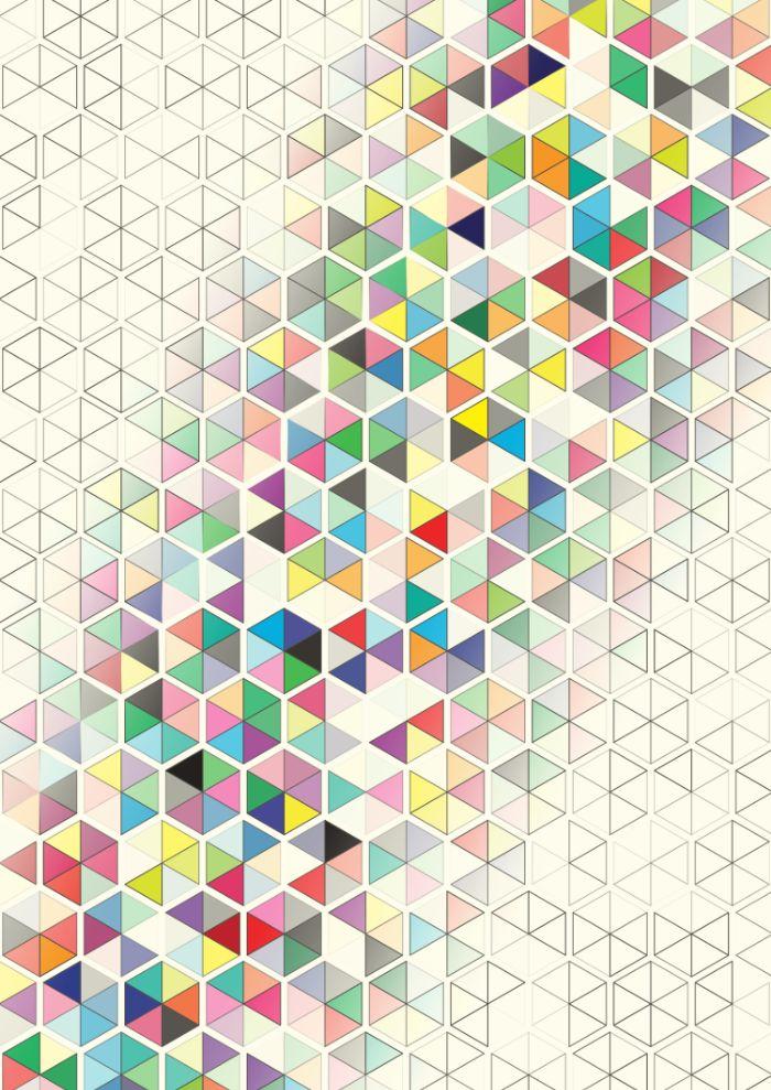 Cuben Split Art Print by Simon C Page   Society6