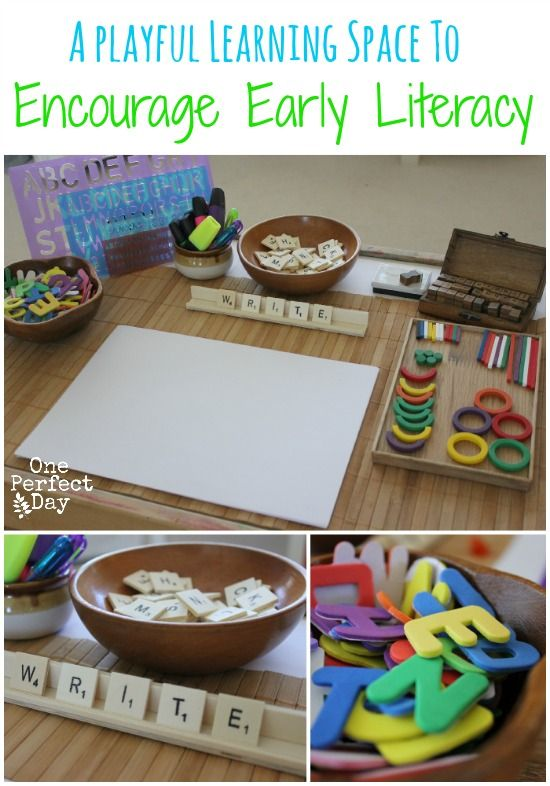 how to create a writing center for preschoolers