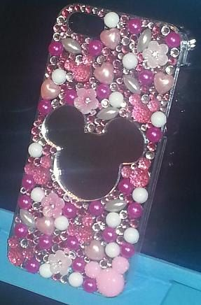FREE SHIP Iphone 5 Disney Inspired Phone Case Rhinestone Mickey Mouse Bling