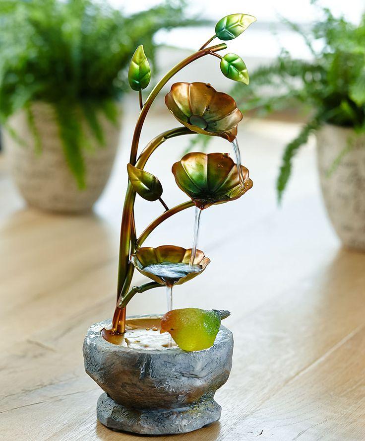 Fontanella con uccellino cinguettante | Accessori da giardino | Bakker