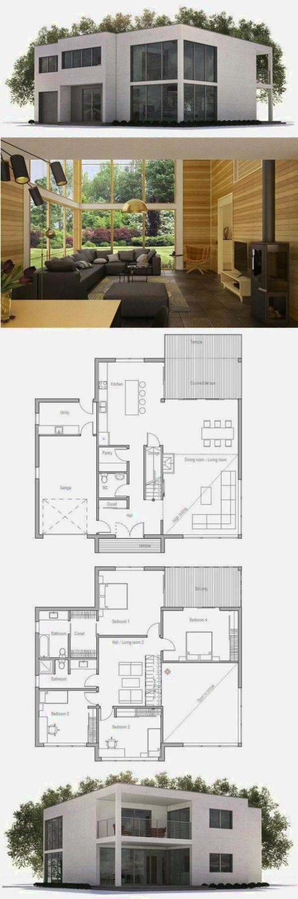 Pi di 25 fantastiche idee su planimetrie di case su for Piani di casa pre progettati