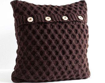 Kabel-Hand gestrickte Kissen wolle Abdeckung Milch von pillowlink