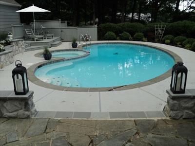 R pool  18 best Concrete Pool Decks images on Pinterest   Pool decks ...