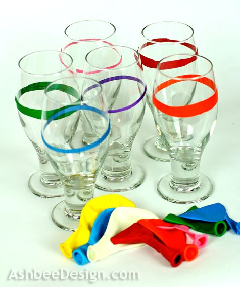 Holiday house guests??  Too many used glasses each day.....do this!  I certainly am going to.
