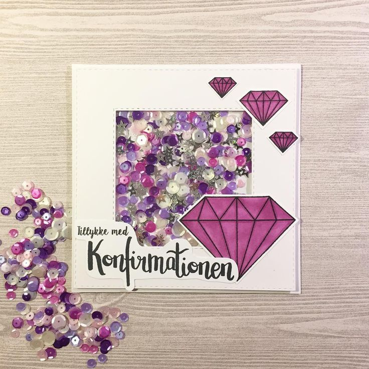 Shine bright like a diamond I made another card using the new stamp set from @krumspring_ for the upcoming confirmations ⛪️ I used it with the diamond stamp set, all girls like diamonds right #mitkammer #cardmaking #krumspringstamps #konfirmand #shinebrightlikeadiamond #diamonds #purple #shakercard #sequins #pink #silver #stars #shine #konfirmation2017 #telegram #cardmagic #onmytable #happytime