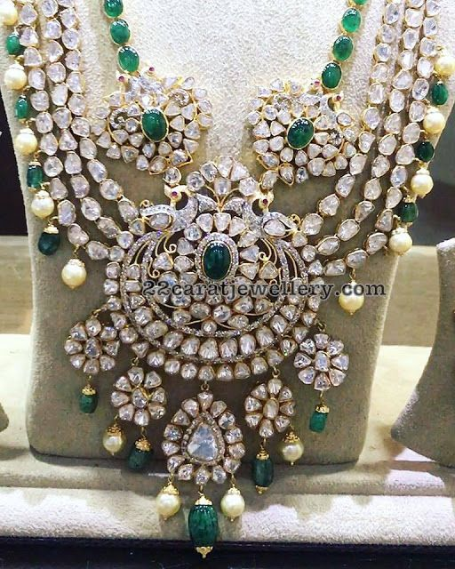 Grand Pachi Necklace with Emerald Drops