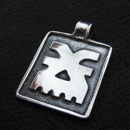Silver Khorne pendant