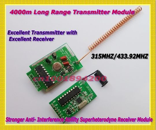169.10$  Watch now - http://aliej1.shopchina.info/go.php?t=1578214467 - 4000m Transmitter Module Long Range + Stronger Anti- Interference Ability Superheterodyne Receiver Module  315/433MHZ Far Transc 169.10$ #magazineonline