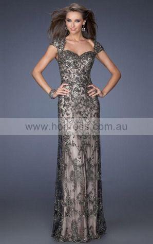 Lace Sweetheart Empire Sheath Floor-length Evening Dresses abaa1026--Hodress