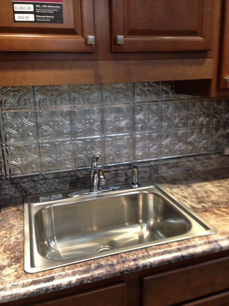 Tin Kitchen Backsplash Pictures
