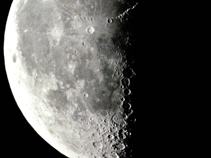 Waning moon over Alberta.